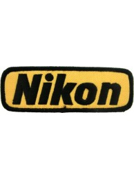 NIKON CAMERA LOGO EMBROIDERED PATCH #02