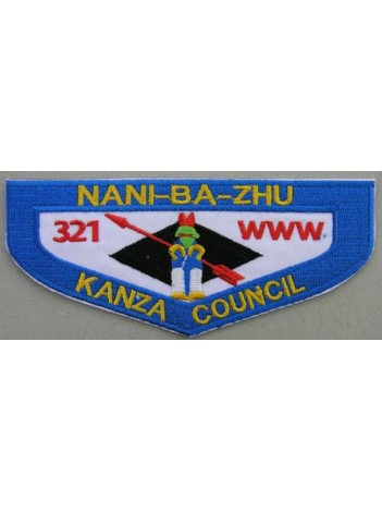 BSA OA FLAP 321 NANI-BA-ZHU KANZA COUNCIL PATCH
