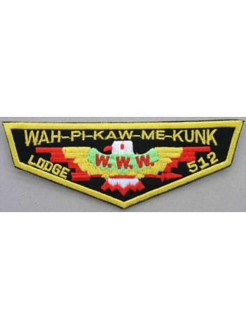 BSA OA FLAP 512 WAH-PI-KAW-ME-KUNK PATCH