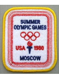 1980 OLYMPIC GAMES - MOSCOW / USA EMBROIDERED PATCH