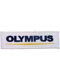 OLYMPUS CAMERA LOGO IRON ON EMBROIDERED PATCH #01