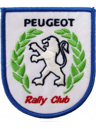 PEUGEOT RALLY CLUB AUTO RACING IRON ON EMBROIDERED PATCH