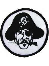 PIRATE PUNK & ROCK IRON ON EMBROIDERED PATCH #01