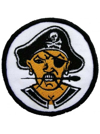 PIRATE PUNK & ROCK IRON ON EMBROIDERED PATCH #02