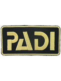 PADI SCUBA LOGO EMBROIDERED PATCH