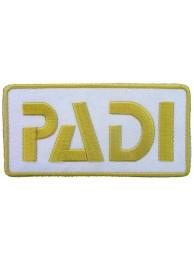 PADI SCUBA LOGO EMBROIDERED PATCH