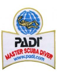 PADI SCUBA - MASTER SCUBA DIVER EMBROIDERED PATCH