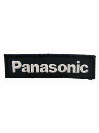 PANASONIC LOGO IRON ON EMBROIDERED PATCH #01