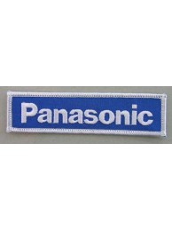 PANASONIC LOGO IRON ON EMBROIDERED PATCH #05