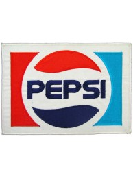 GIANT PEPSI SODA IRON ON EMBROIDERED PATCH (P)