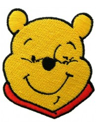 WINNIE THE POOH CARTOON COMIC EMBROIDERED PATCH