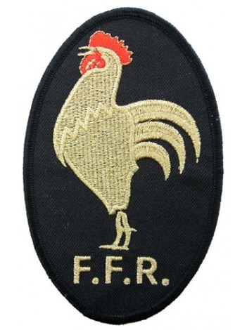 FRANCE RUGBY IRON ON EMBROIDERED PATCH #02