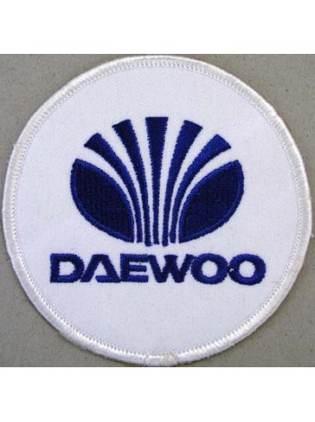 DAEWOO MOTOR LOGO EMBROIDERED PATCH #01