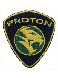 PROTON AUTOMOBILE IRON ON EMBROIDERED PATCH #01A