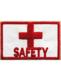 RED CROSS SAFETY AMBULANCE IRON ON EMBROIDERED PATCH