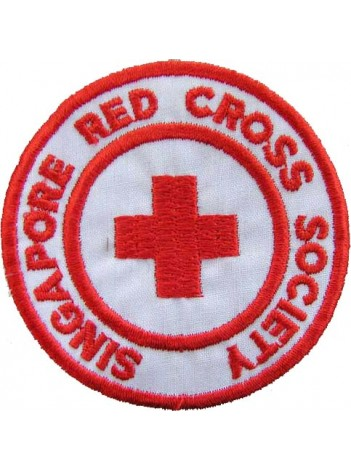 SINGAPORE RED CROSS AMBULANCE EMBROIDERED PATCH