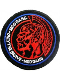 THE BRAVE MOD DANG ROCK EMBROIDERED PATCH