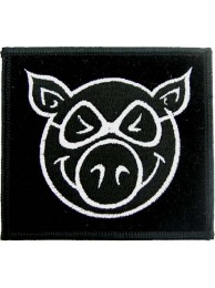 PIG HEAD BIKER PUNK / ROCK PATCH