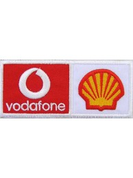SHELL / VODAFONE RACING EMBROIDERED PATCH #07