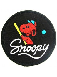 SNOOPY CARTOON COMIC IRON ON EMBROIDERED PATCH #02