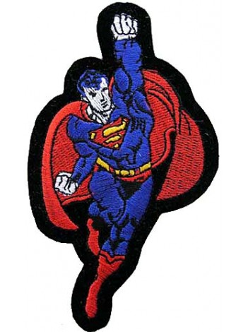 SUPERMAN CARTOON COMIC IRON ON EMBROIDERED PATCH #01