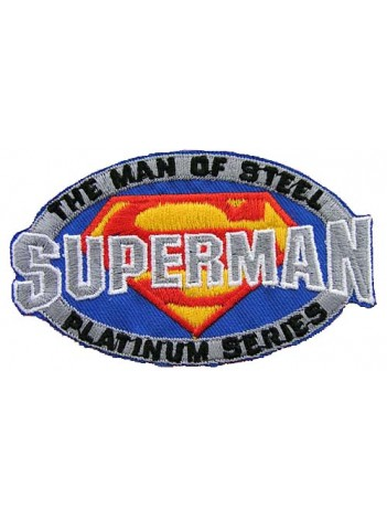 SUPERMAN CARTOON COMIC IRON ON EMBROIDERED PATCH #02