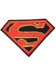 SUPERMAN CARTOON COMIC IRON ON EMBROIDERED PATCH #04