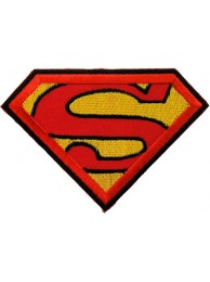 SUPERMAN CARTOON COMIC IRON ON EMBROIDERED PATCH #05