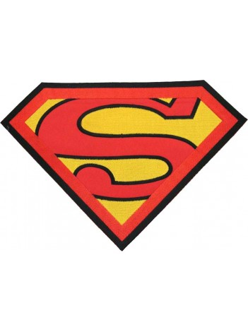 GIANT SUPERMAN CREST EMBROIDERED PATCH #P4