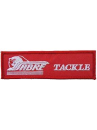 SABRE TACKLE FISHING IRON ON EMBROIDERED PATCH #02