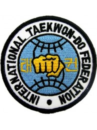 "TAEKWONDO MARTIAL ARTS EMBOIDERED PATCH #07 (3"")"