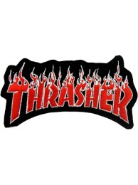 THRASHER SKATEBOARD EMBROIDERED PATCH #01