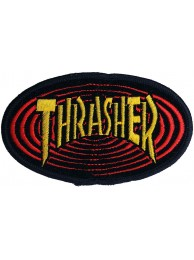 THRASHER SKATEBOARD EMBROIDERED PATCH #04