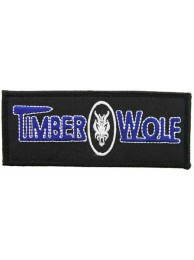 TIMBER WOLF FISHING IRON ON EMBROIDERED PATCH #02