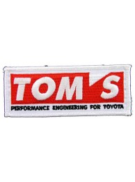 TOYOTA TOM's RACING EMBROIDERED PATCH #02