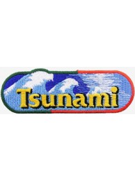 TSUNAMI FISHING IRON ON EMBROIDERED PATCH