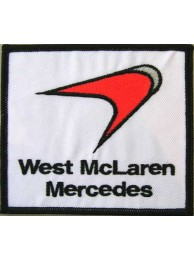 WEST MCLAREN MERCEDES RACING EMBROIDERED PATCH #08