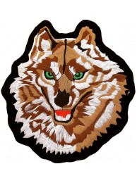 GIANT WOLF BIKER EMBROIDERED PATCH (P1)
