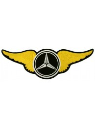 GIANT MERCEDES BIKER WINGS EMBROIDERED PATCH (K1)