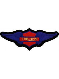 GIANT TRIUMPH BIKER WINGS EMBROIDERED PATCH (K2)