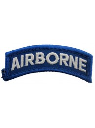 AIRBORNE SHOULDER TAB EMBROIDERED PATCH #01