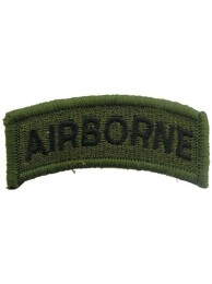 AIRBORNE SHOULDER TAB EMBROIDERED PATCH #02