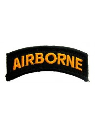 AIRBORNE SHOULDER TAB EMBROIDERED PATCH #04