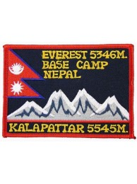 NEPAL MOUNT EVEREST BASE CAMP EMBROIDERED PATCH #01