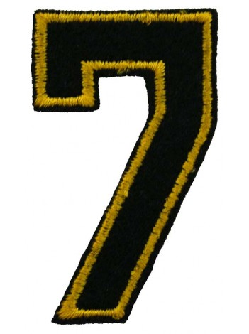NUMBER 7 (SEVEN) IRON ON EMBROIDERED PATCH