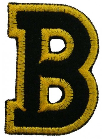 ALPHABET (B) IRON ON EMBROIDERED PATCH