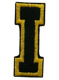 ALPHABET (I) IRON ON EMBROIDERED PATCH