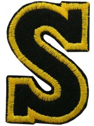 ALPHABET (S) IRON ON EMBROIDERED PATCH