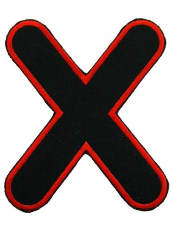 ALPHABET (X) IRON ON EMBROIDERED PATCH