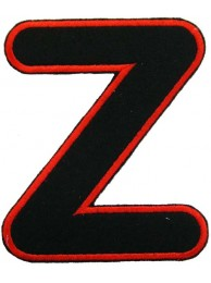 ALPHABET (Z) IRON ON EMBROIDERED PATCH